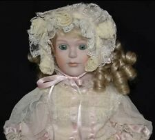 "RARE 16"" LE #556/1000 Porcelain Doll Gorham Small Wonders Madeline wStand NIB"