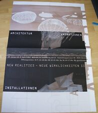 SWISS EXHIBITION XXL POSTER 1993 - ARCHITECTURE ANIMATION - NEW REALITIES II art