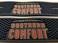 SOUTHERN COMFORT THICK RUBBER BAR RUNNERS x 2 NEW