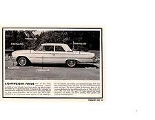 1963 LIGHTWEIGHT FORDS / ALUMINUM & FIBERGLASS OPTIONS ~ ORIG SMALLER ARTICLE