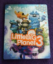 LITTLE BIG PLANET 3 STEELBOOK - PLAYSTATION 4 (PS4) - RARE STEELBOOK (NO GAME)