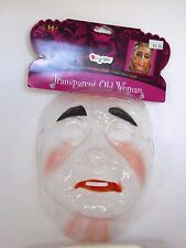 Transparent Old Woman Mask Halloween Costume Trick Or Treat  Disguise Prop Stage