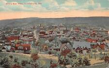 BIRD'S EYE VIEW CUMBERLAND MARYLAND POSTCARD 1919
