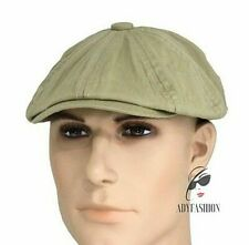 Mens Newsboy Cap 100% Cotton Quality One Size fits 57-59cm GREEN Sample Sale