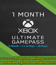 Xbox 1 Month (Ultimate) Game Pass + Live Gold (2x 14 Day Trial) Code Global Card
