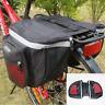 Outdoor Double Bicycle Cycle Pannier Bag Rear Bike Rack Waterproof Storage Bag