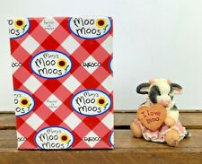 Nos Collectable Mary's Moo Moos Cow With Wood Sign I Love Moo
