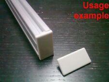 Aluminum T-slot profile End Cap plastic white-grey 20x40mm, 12-set