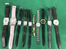 estate Lot,10 Wrist Watches  Parts Repair, Seiko, Carriage, Disney, Pink Panther