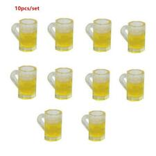 10x Dollhouse Miniature 1:12 Scale Kitchen Beer Cup Alcohol Drink Mug Decor Toy