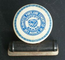 Hawkeye Brand Portland Cement Co Antique Advertising Cellulod Paper Clip