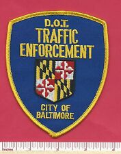 City of Baltimore MD State of Maryland DOT Traffic Law Enforcement Police Patch