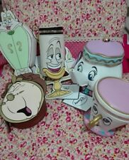 Primark Disney LA BELLA E LA BESTIA personaggio Bag Bundle NUOVO con etichetta Teiera Chip ecc.