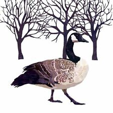 "WHITE BROWN BLACK GOOSE TREES PACK OF 20 PAPER NAPKINS SERVIETTES 13"" x 13"""