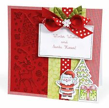 Sizzix Merry Background Emboss & Stamp set #657770 Retail $19.99 Retired BEAUTY!