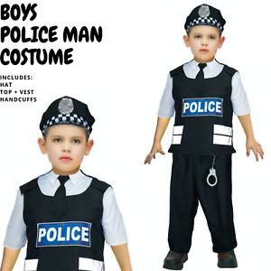 Deluxe Boys Police Costume Book Week Children's Halloween Fancy Dress Kids