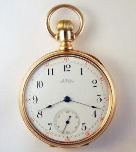 WALTHAM HEAVY 14K GOLD MODEL 1872 16 JEWEL 16 SIZE POCKET WATCH