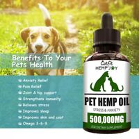 Hemp Essential Oil dog & cat Anxiety Relief Pain Relief Oil Pet  Care 500000 MG