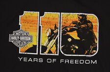 New Harley Davidson Motorcycles 110th Anniversary Event T-shirt Large Black