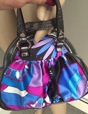 NWOT Purple and blue Geometric handbag by Emilio Pucci