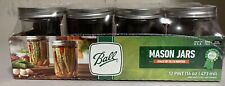 Ball Mason Jars 16oz Wide Mouth Pint Canning Lids & Bands Clear Glass 12 Pack