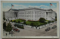 Washington DC Postcard 1916 US Patent Office Building Trolleys (f189bl)
