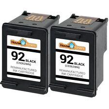 2PK for HP 92 Ink Photosmart C3100 C3190 C3140 C3173 3125 Printer