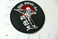 NEW Tae Kwon Do TAEKWONDO KICK BLACK RED STITCHED UNIFORM PATCH Martial Arts MMA