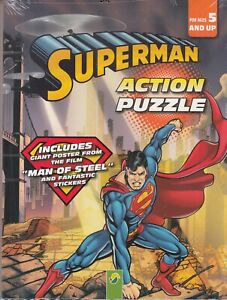 Superman ACTION puzzle activity book with Man o... - New - Paperback