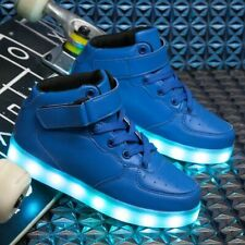 Size25-40 LED Shoes For Kids Boys Glowing Sneakers Running Shoes With Lights