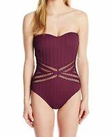 Kenneth Cole Women's Swimwear Purple Size Large L One Piece Swimsuit $107 #457