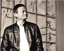 ALIBABA FOUNDER CEO JACK MA SIGNED 8x10 INCH PHOTO A w/COA CHINESE INVESTOR YUN
