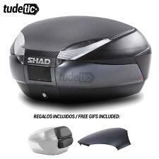SHAD Baul maleta SH48 carbon/titanium + tapa + respaldo