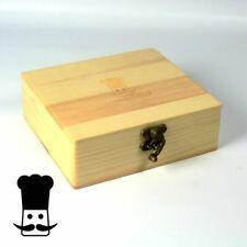 Head Chef Pine Wood Smokers Box Stash Keep Safe Free UK P&P