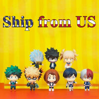 "2"" My Hero Academia Boku no Deku 8 Pcs Action Figures Toys Gift Cake Toppers Set"