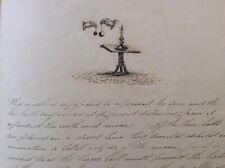 Regency Antique Manuscript Astronomy Astrology Illustrated 1830s Hand Bind Books