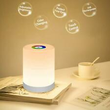 Touch Lamp Night Light Rechargeable Bedside Table Lamps Dimmable Color Change