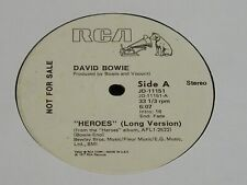 """David Bowie-Heroes-RARE 1977 US PROMO-ONLY 6:07/3:31 12"""" Single-NEAR MINT!"""