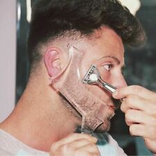 1 Pc Men Beard Shaping Styling Template Comb Transparent Beards Combs Beauty Too