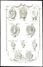 1768 ESSEX - Large Antique Engraving SEALS of IMPORTANT ESSEX PEOPLE (42)