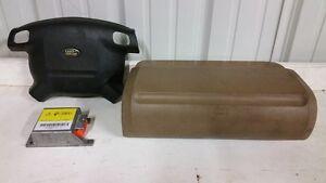 99 00 01 02 Land Rover Discovery Air Bag Set Wheel Dash Module OEM Black Brown