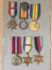 Family Medals. 1914 Star trio - Driver H. Tibble, Royal Engineers & WWII medals