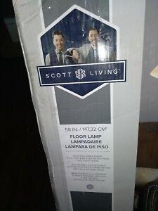 Scott living 58-in Gray/Brushed Nickel Pharmacy Floor Lamp