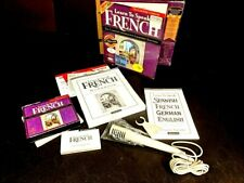 The Learning Company Learn to Speak French 8.0 Big Box Software w/Mic 4 cds
