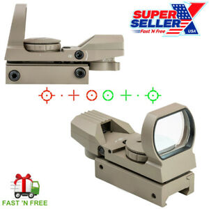 D4RGT Tactical Red/Green Dot Reflex Optic Sight Four Reticle Scope D4RGB