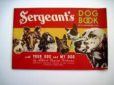 """1939 Ad. Booklet """"Polk Miller Products Corp."""" Titled """"Sergeant's Dog Book"""" *"""