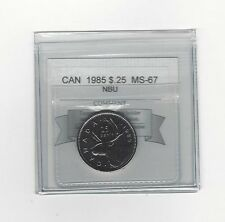 **1985** Coin Mart Graded Canadian,25 Cent, **MS-67 NBU**