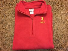 Disney mens pullover fleece sweatshirt ¼ zip embroidered mickey red large