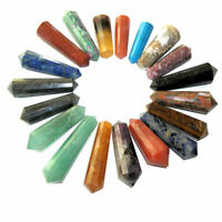 1 x Gemstone Crystal 12 Faceted DT Vogel Wand Point Healing Chakra 40-59mm