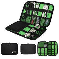 Portable Electronic Accessory Cable USB Drive Organizer Bag Travel Insert Case
